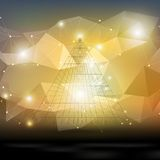 Abstract 3D pyramid, geometric colorful triangle Stock Photos