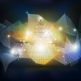 Abstract 3D pyramid, geometric colorful triangle Stock Images