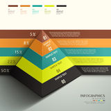 Abstract 3d Pyramid infographics Stock Images