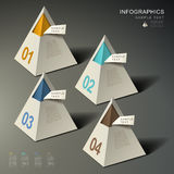 Abstract 3d pyramid infographics Stock Photography