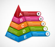 Abstract 3D pyramid options infographics template for presentations or information booklet. Royalty Free Stock Photo