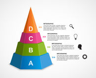 Abstract 3D pyramid options infographics template. Stock Photo