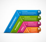 Abstract 3D pyramid options infographics template. Vector illustration Royalty Free Stock Images