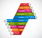 Abstract 3D pyramid options infographics template. Vector illustration Royalty Free Stock Photo
