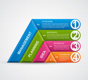 Abstract 3D pyramid options infographics template. Vector illustration Stock Photos