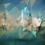 Abstract 3D pyramid. Template for business or Royalty Free Stock Images