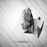 Abstract 3D pyramid, vector template for business Royalty Free Stock Photo