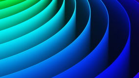 Abstract 3D rainbow spiral background stock video