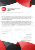 Abstract 3d red and black glossy letterhead template Stock Photos