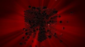 Abstract 3d red cubes Stock Photo