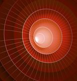 Abstract 3d red spiral tunnel. Vector illustration Royalty Free Stock Images