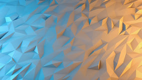 Abstract 3d render background. Techno triangular low poly Stock Image