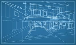 Abstract 3D rendering of building wireframe structure. Vector. Abstract 3D render of building wireframe structure. Vector construction graphic idea vector illustration