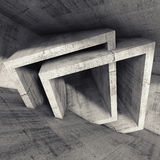 Abstract 3 d render, concrete room interior Stock Photos