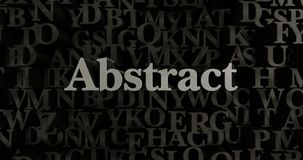 Abstract - 3D rendered metallic typeset headline illustration. Can be used for an online banner ad or a print postcard royalty free illustration