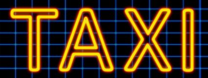 Taxi neon sign Royalty Free Stock Photography