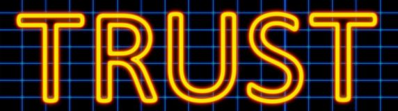 Trust neon sign Royalty Free Stock Photography