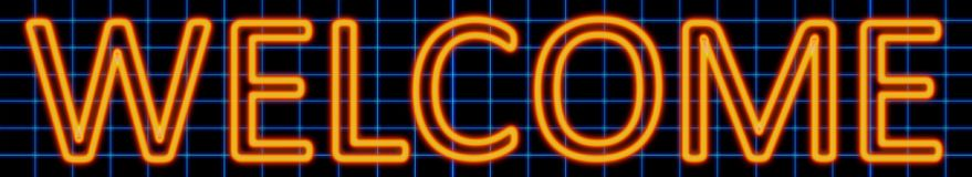 Welcome neon sign Stock Photography