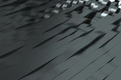 Abstract 3D rendering of black sine waves Royalty Free Stock Photos