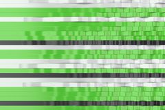 Abstract 3D rendering of black, white and green sine waves Stock Photo