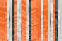 Abstract 3D rendering of black, white and orange sine waves Stock Photos