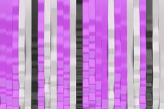 Abstract 3D rendering of black, white and violet sine waves. Bended stripes background. Reflective surface pattern. 3D render illustration Royalty Free Stock Photography