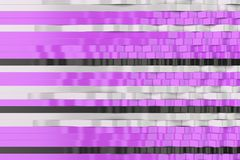 Abstract 3D rendering of black, white and violet sine waves. Bended stripes background. Reflective surface pattern. 3D render illustration Royalty Free Stock Photo