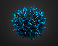 Abstract 3D Rendering of Blue Chaotic Surface Stock Photography