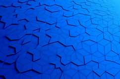 Abstract 3D Rendering of Blue Futuristic Surface. Sci-fi background Stock Image