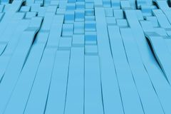 Abstract 3D rendering of blue sine waves Stock Photography
