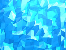Abstract 3d rendering of blue surface. Background with futuristic lines and low poly shape. Abstract blue crystal 3d background with polygonal pattern Stock Photos