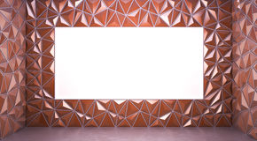 Abstract 3d rendering of brown surface Background with space for Royalty Free Stock Photos