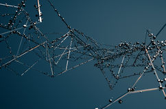 Abstract 3D Rendering of Chaotic Metal Structure Stock Image