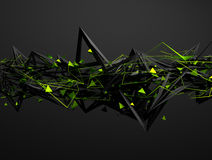 Abstract 3D Rendering of Chaotic Structure Stock Photo