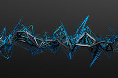 Abstract 3D Rendering of Chaotic Structure Stock Image