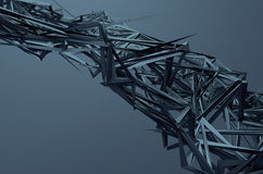 Abstract 3D Rendering of Chaotic Structure Royalty Free Stock Image