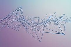 Abstract 3D Rendering of Chaotic Structure Royalty Free Stock Photos