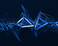 Abstract 3D Rendering of Chaotic Surface. Royalty Free Stock Image
