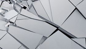 Abstract 3D Rendering of Cracked Surface. Modern background design, wall destruction vector illustration
