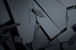 Abstract 3D Rendering of Cracked Surface. Royalty Free Stock Photo