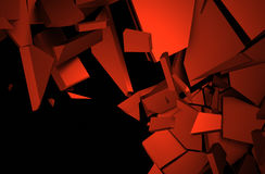 Abstract 3D Rendering of Cracked Surface. Royalty Free Stock Photography