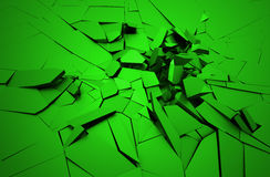 Abstract 3D Rendering of Cracked Surface. Royalty Free Stock Photos