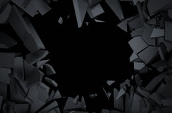 Abstract 3D Rendering of Cracked Surface. Stock Images
