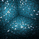 Abstract 3d rendering of darck blue surface Background with futu. Ristic Stock Illustration