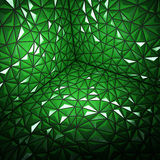 Abstract 3d rendering of darck green surface Background. With futuristic polygonal Stock Image