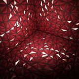 Abstract 3d rendering of darck red surface Background. With futuristic polygonal Stock Photography