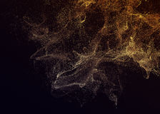 Abstract 3D Rendering of Flying Particles. Stock Image