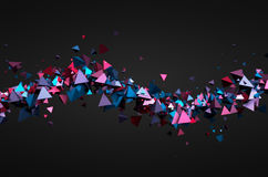 Abstract 3D Rendering of Flying Particles Royalty Free Stock Photo