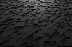 Abstract 3d rendering of futuristic surface with. Abstract 3d rendering of black futuristic surface with triangles. Sci-fi background stock illustration