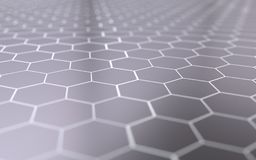 Abstract 3d surface with hexagons. Abstract 3d rendering of futuristic surface with hexagons Stock Images